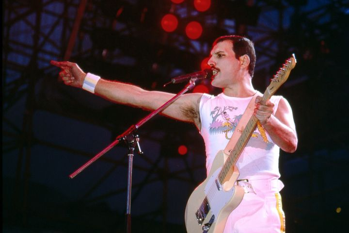 Freddie Mercury. Photo: Ilpo Musto/Shutterstock