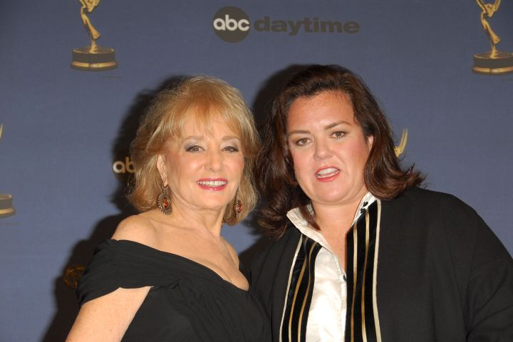 Mandatory Credit: Photo by Jim Smeal/BEI/Shutterstock (585548bq) Barbara Walters and Rosie O'Donnell 33RD ANNUAL DAYTIME EMMY AWARDS, KODAK THEATRE, LOS ANGELES, AMERICA - 28 APR 2006