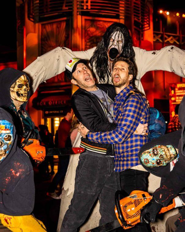 Michael Rosenbaum, Jon Heder Scream Their Way Throughout 'Horror Nights'