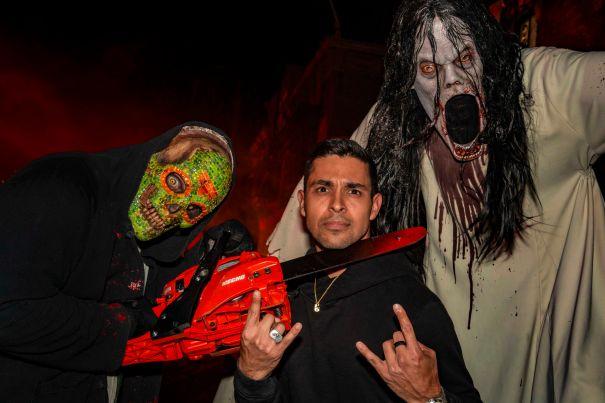 Wilmer Valderrama Rocks Out At Horror Nights