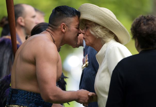 Camilla Gets A Traditional Welcome
