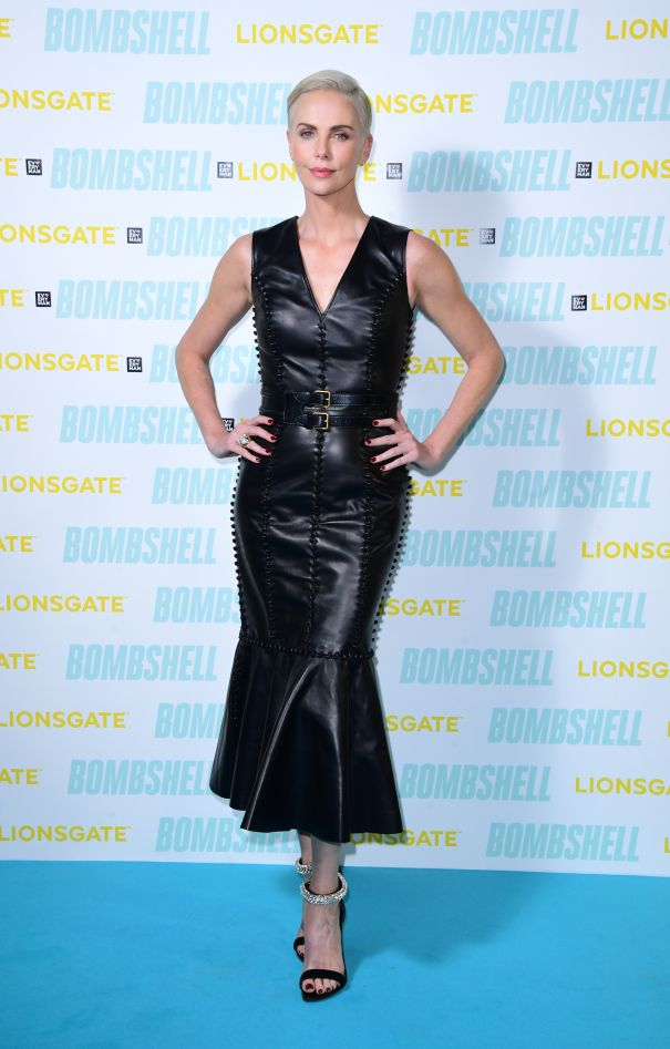 Charlize Theron Lovely In Leather