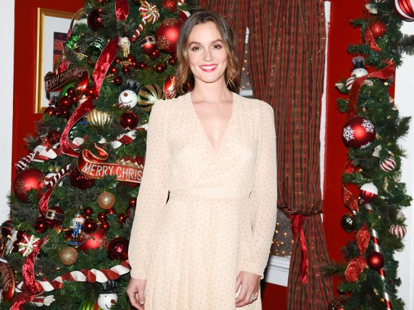 Leighton Meester Gets Festive