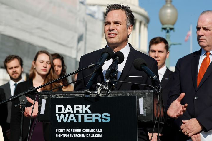 Mark Ruffalo speaks at the Fight Forever Chemicals Campaign kick off event on Capitol Hill on November 19, 2019 in Washington, DC. (Photo by Paul Morigi/Getty Images)
