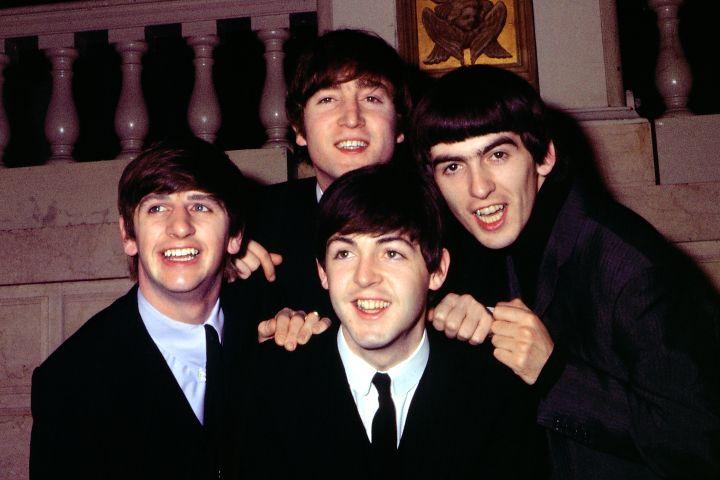 Ringo Starr, John Lennon, Paul McCartney, George Harrison. Photo by Michael Ochs Archives/Getty Images