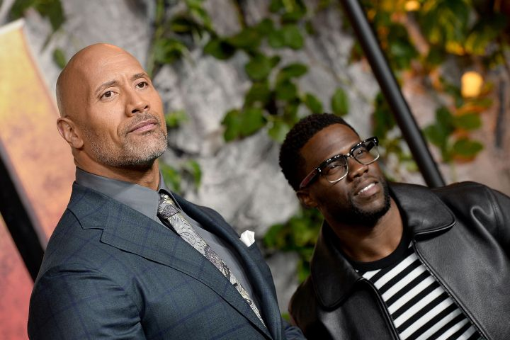 Dwayne Johnson and Kevin Hart. Photo: Getty Images