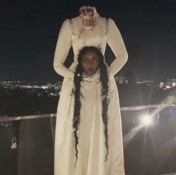 Janelle Monae Kills It As Creepy Headless Bride