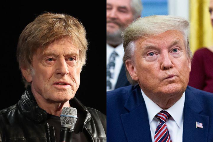 Robert Redford, Donald Trump. Photo: Shutterstock