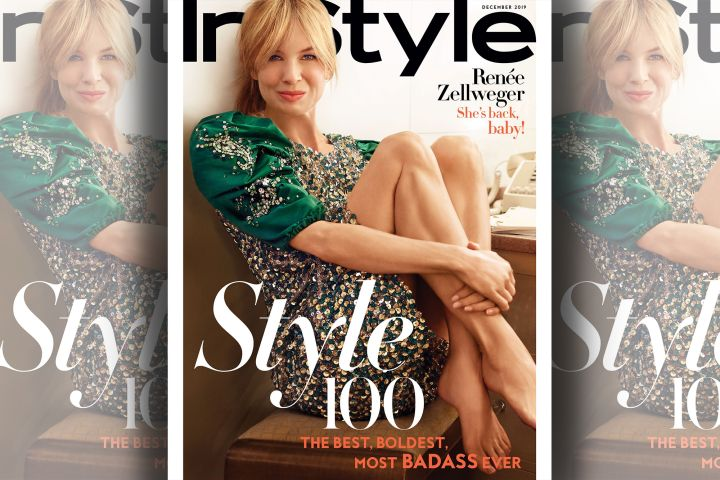 Renée Zellweger. Photo: SEBASTIAN FAENA for InStyle. On sale November 22.
