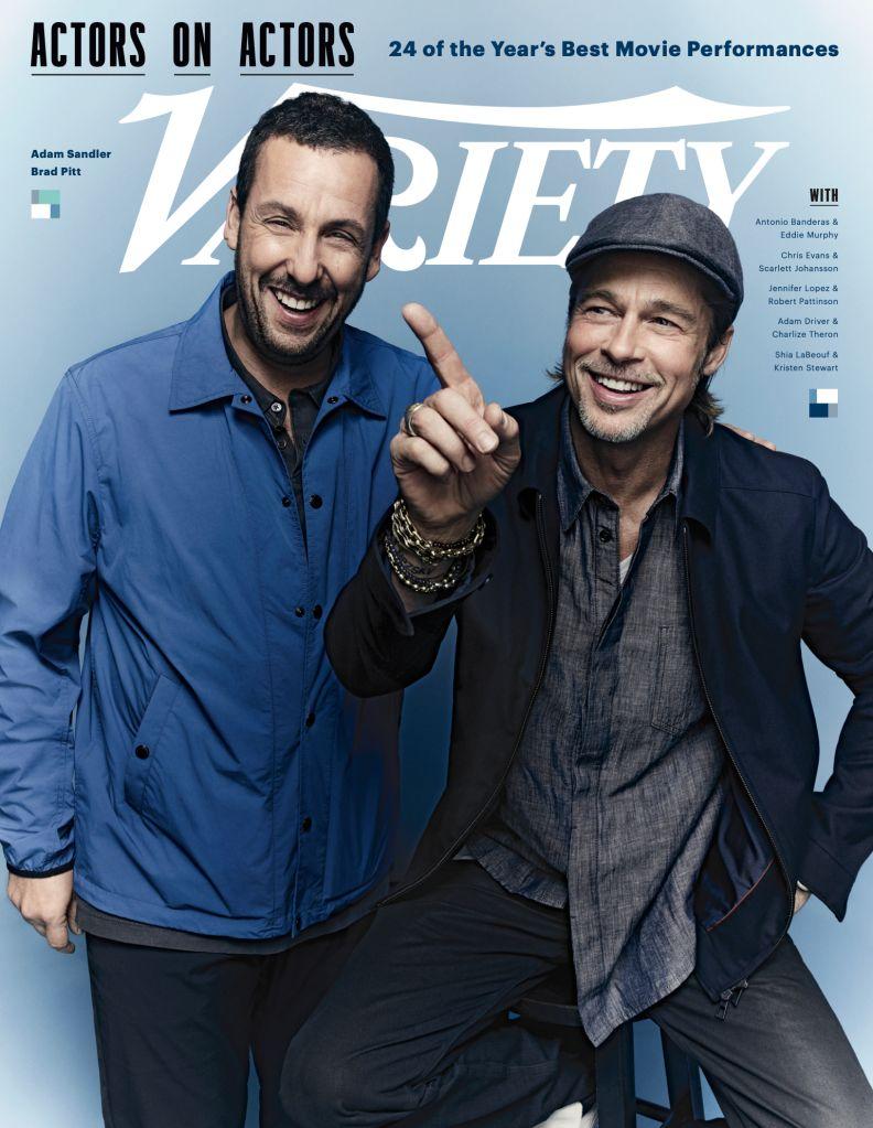 Adam Sandler and Brad Pitt. Photo: Art Streiber for Variety