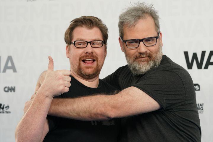 """L-R: """"Rick and Morty"""" creators Justin Roiland and Dan Harmon (Shutterstock)"""