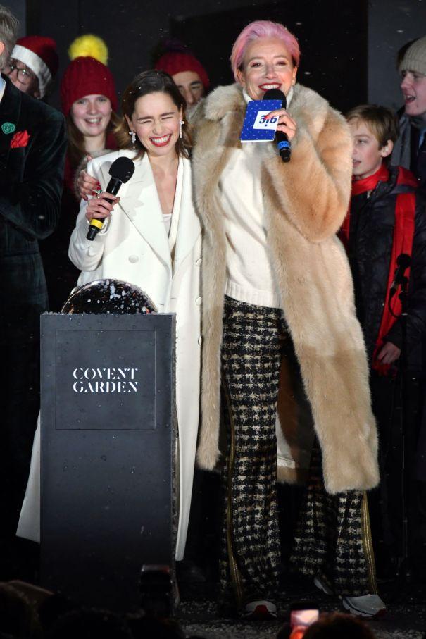 Emilia Clarke, Emma Thompson Perform 'Last Christmas'