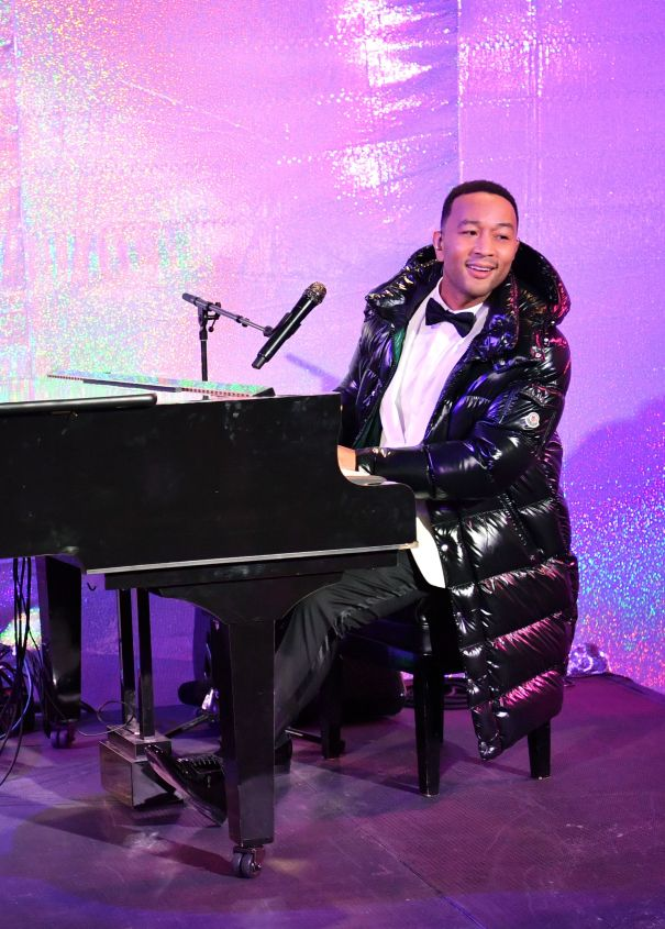John Legend Takes On Window Unveiling