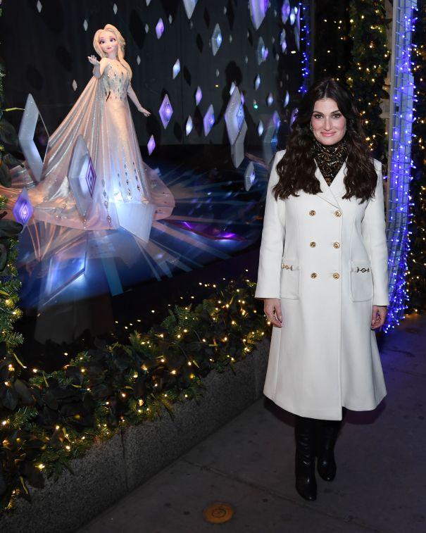 Idina Menzel Unveils 'Frozen 2' Window Display