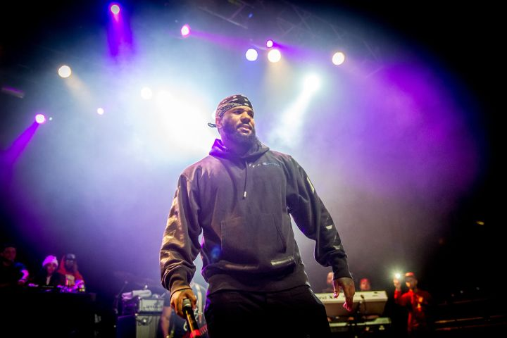 Mandatory Credit: Photo by Rmv/Shutterstock (9476276ah) The Game - Jayceon Terrell Taylor The Game in concert at the O2 Forum, London, UK - 25 Mar 2018
