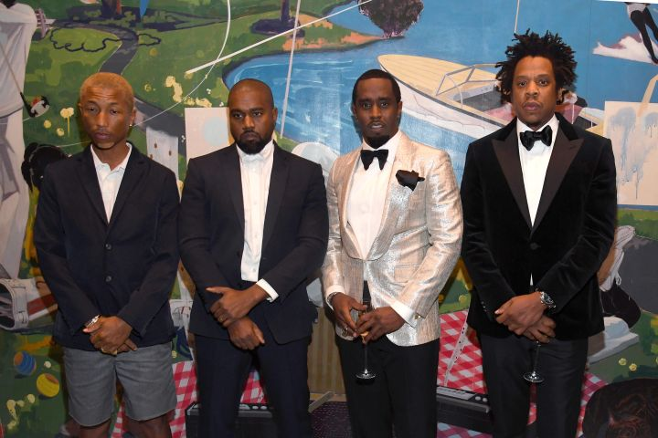 Pharrell Williams, Kanye West, Sean Combs, and Jay-Z - Kevin Mazur/Getty Images for Sean Combs
