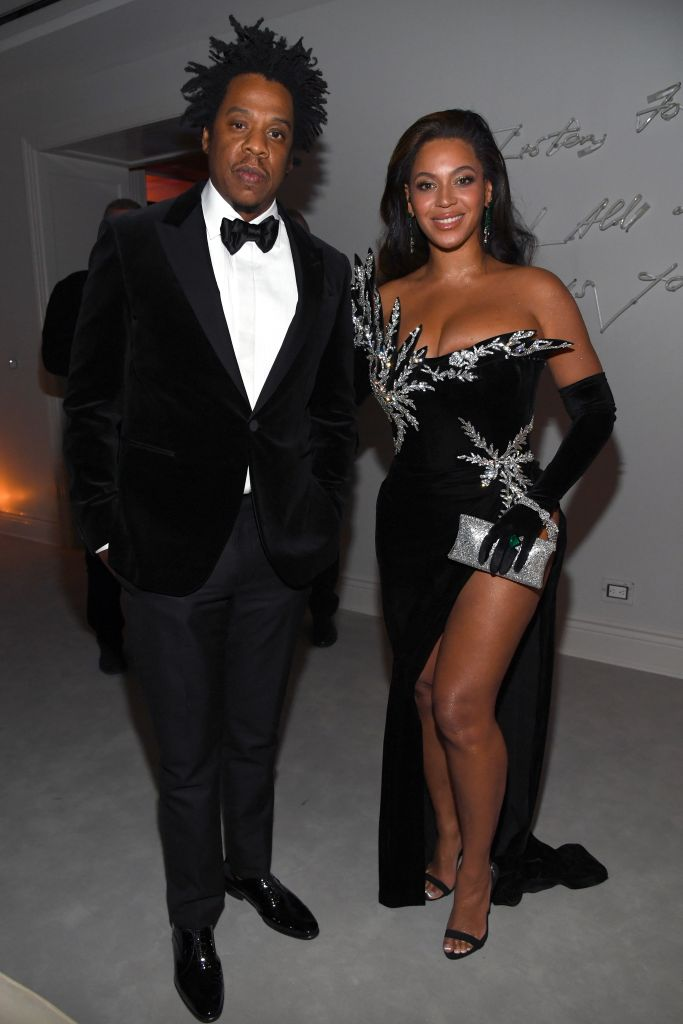 Jay-Z and Beyoncé Knowles-Carter attend Sean Combs 50th Birthday Bash presented by Ciroc Vodka on December 14, 2019 in Los Angeles, California. (Photo by Kevin Mazur/Getty Images for Sean Combs)