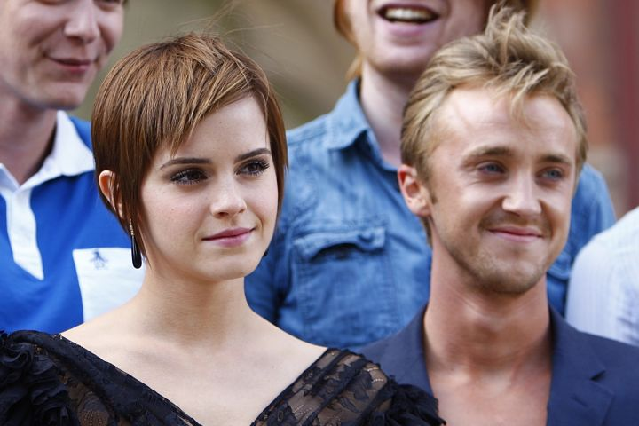 Emma Watson and Tom Felton. Photo: Sean Dempsey/PA Images via Getty Images