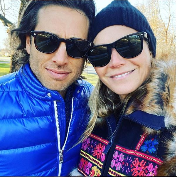 Gwyneth Paltrow And Brad Falchuk Bundle Up