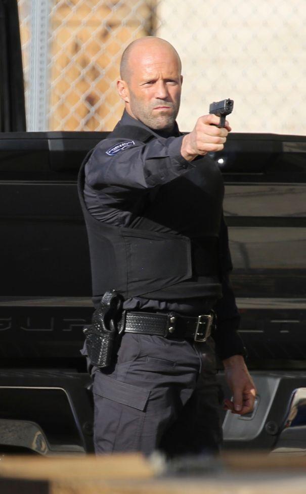Jason Statham Takes Aim