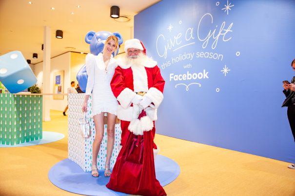 Whitney Port Visits Facebook Pop Up