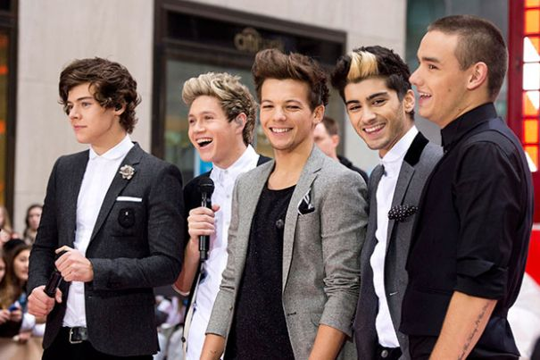 Harry, Niall, Louis, Zayn, and Liam