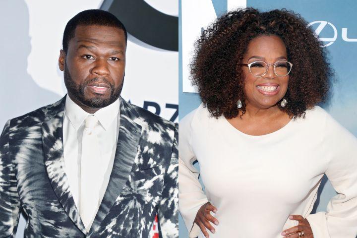50 Cent, Oprah Winfrey. Photo: Shutterstock
