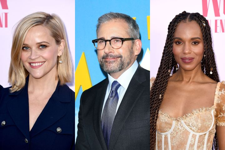Reese Witherspoon, Steve Carell and Kerry Washington. Photo: Shutterstock
