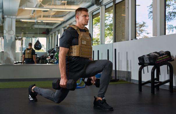 Rob Gronkowski Hits The Gym With Amazon