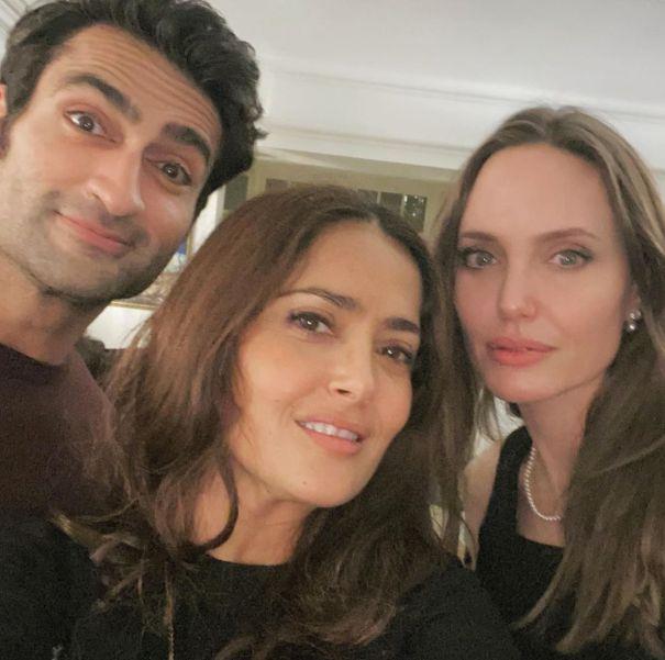Salma Hayek On 'The Eternals' Set With Angelina Jolie