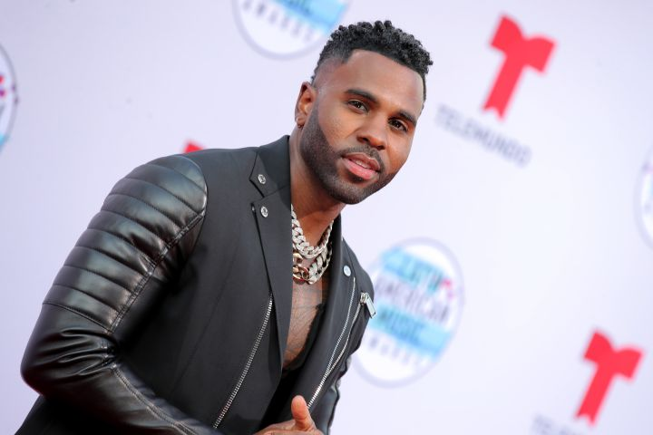 Mandatory Credit: Photo by Chelsea Lauren/Shutterstock (10447685gh) Jason Derulo Latin American Music Awards, Arrivals, Dolby Theatre, Los Angeles, USA - 17 Oct 2019