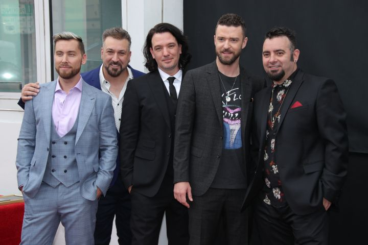 Joey Fatone, JC Chasez, Justin Timberlake and Chris Kirkpatrick. Photo by Matt Baron/Shutterstock