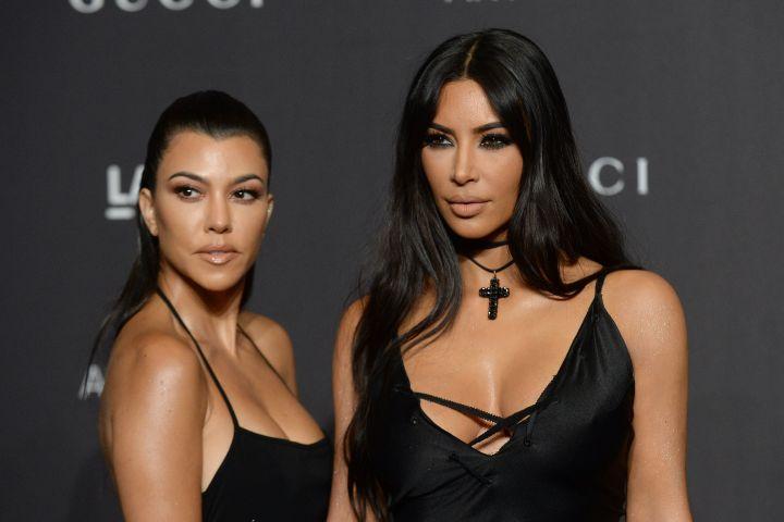 Kourtney and Kim Kardashian. Photo: Broadimage/Shutterstock