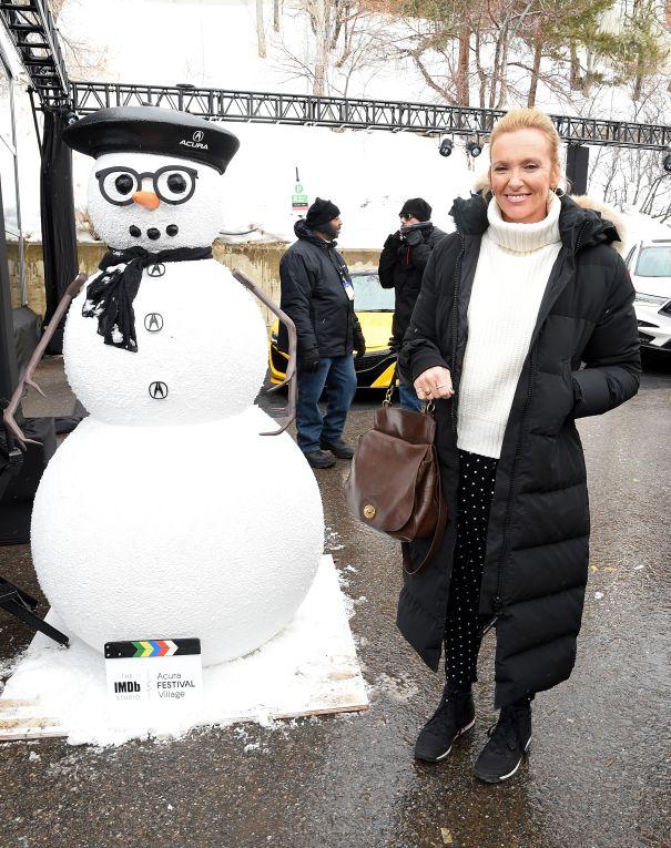 Toni Collette And Snowman