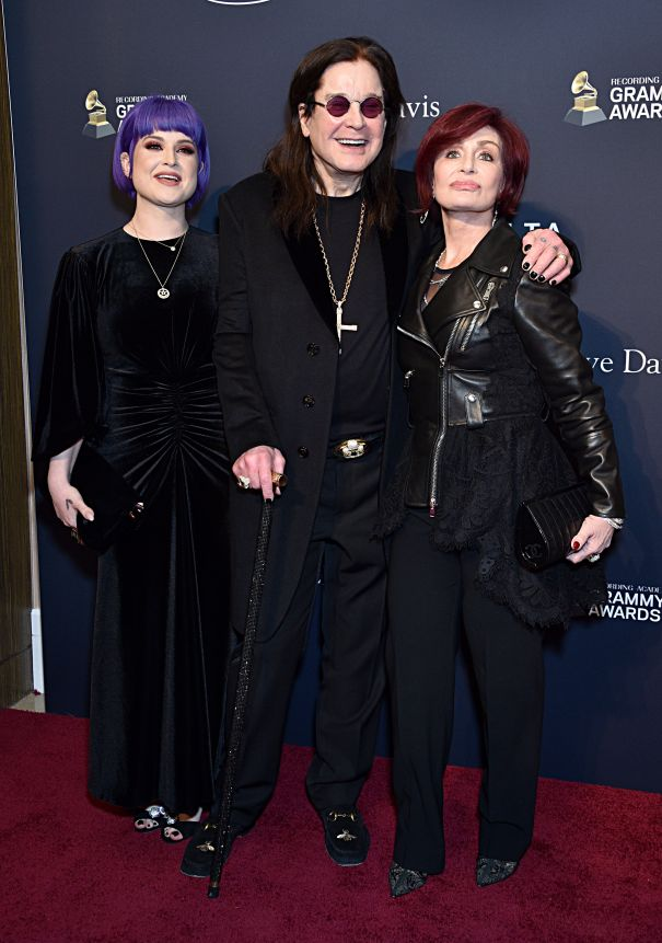 The Osbournes At Pre-Grammys Gala