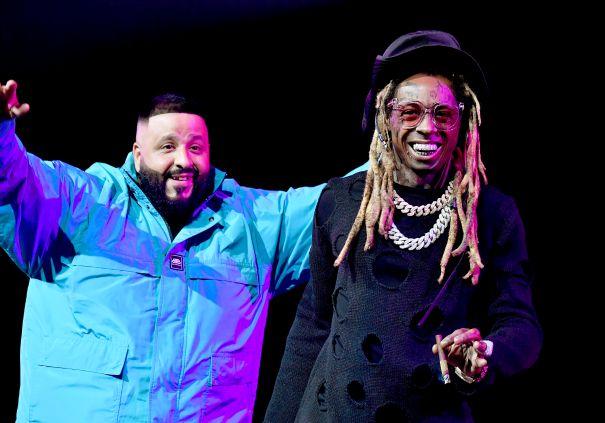 DJ Khaled And Lil Wayne Hype Up The Crowd