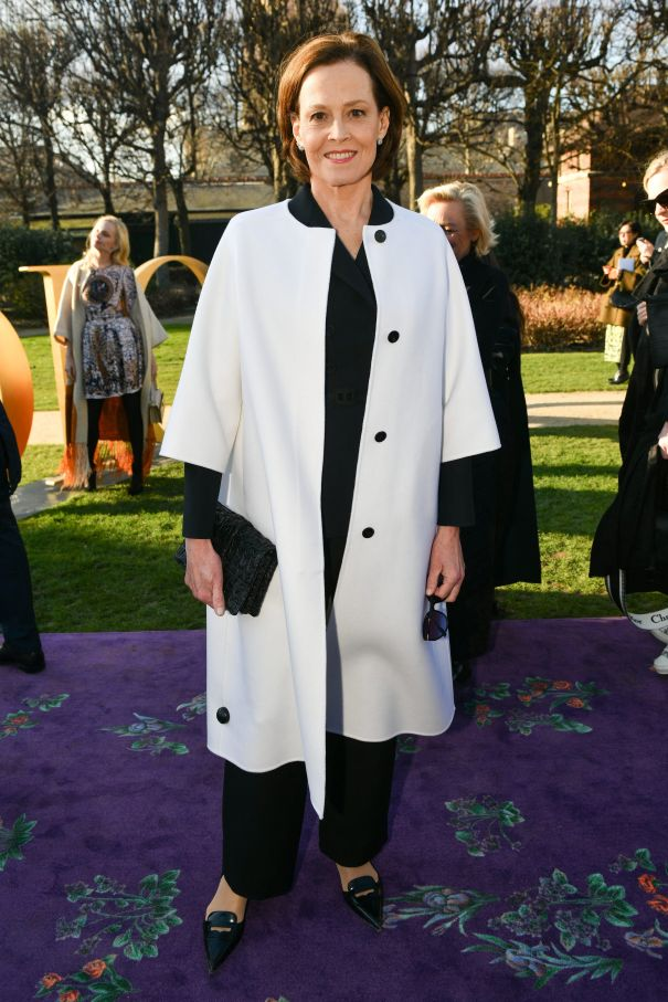 Sigourney Weaver Is Radiant In White