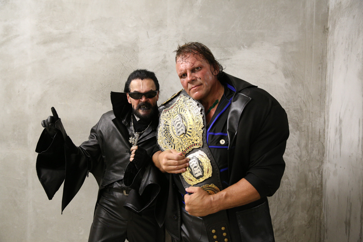 PCO and his manager D Destro. Courtesy: RING OF HONOR/ Zia Hiltey.