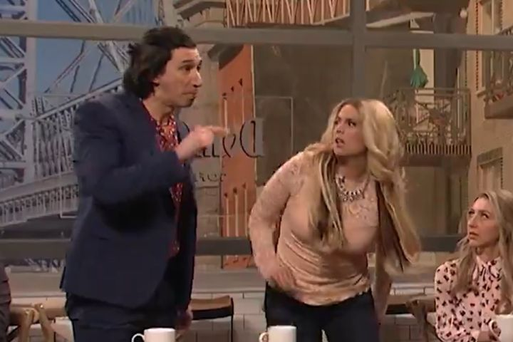 Adam Driver, Cecily Strong. Photo: Twitter/SNL
