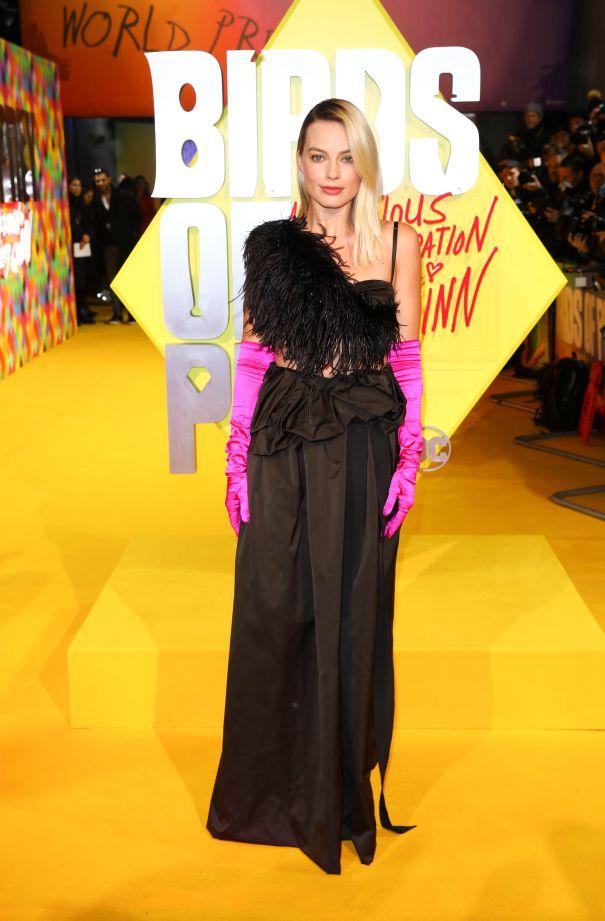 Margot Robbie's Pop Of Pink