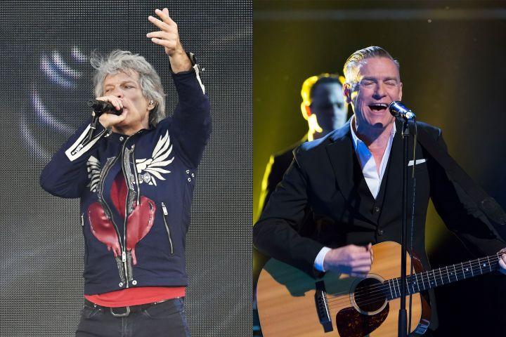 Jon Bon Jovi, Bryan Adams. Photo: Shutterstock