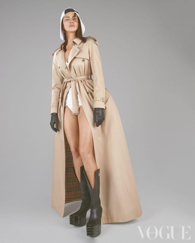 Irina Shayk. Photo: Mert Alas & Marcus Piggott for British Vogue