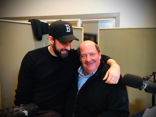 John Krasinski And Brian Baumgartner Have An 'Office' Reunion
