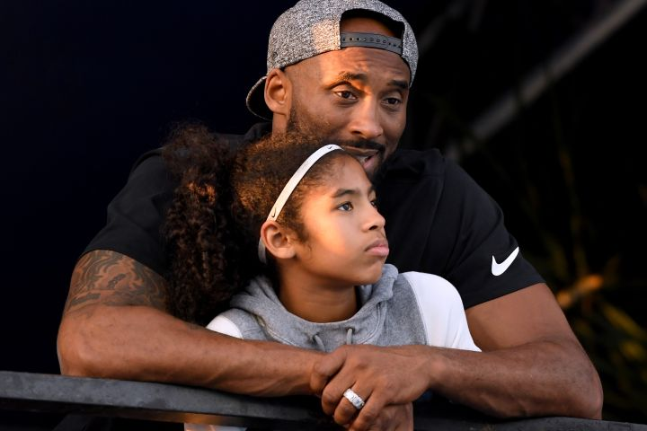 Kobe Bryant, Gianna Bryant. Photo by Harry How/Getty Images