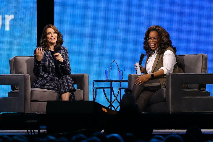 Tina Fey and Oprah Winfrey. Photo: Adam Bettcher/Getty Images for Oprah