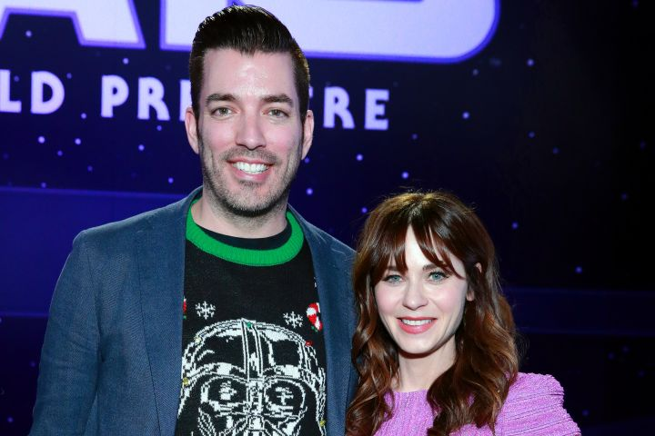 Jonathan Scott and Zooey Deschanel. Photo by Rich Fury/Getty Images