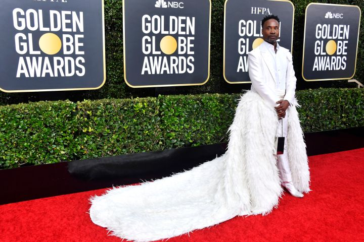 Billy Porter knows how to make an entrance with a killer white ensemble on the Golden Globes red carpet.