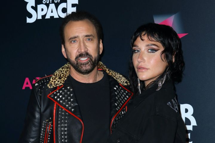 Nicolas Cage and Kesha. Photo: JC Olivera/Getty Images
