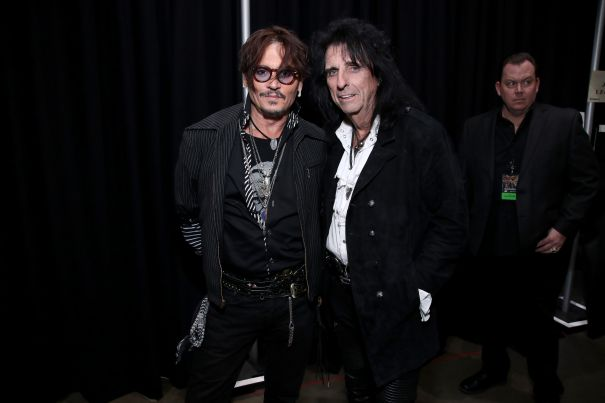 Hollywood Vampires Johnny Depp And Alice Cooper