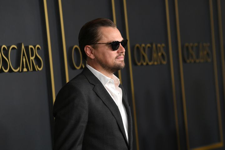 """Once Upon A Time In Hollywood"" star Leonardo DiCaprio opts for a two-piece suit with an open collar at the Oscars Nominees Luncheon in Hollywood."